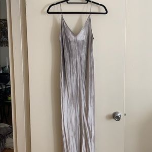Never worn Alexander Wang silver velvet maxi dress